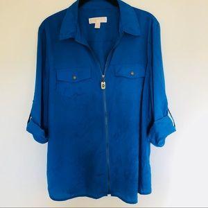 MICHAEL Michael Kors   Full zip tunic   blue XL